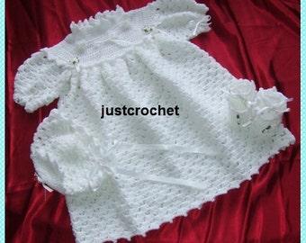 Christening Outfit Baby Crochet Pattern (DOWNLOAD) 08