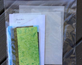 """Quilt Pattern - DIY Quilt Kit - Fabric Postcard - Mountain Fabric Postcard Kit - Make Your Own Postcard - 4"""" by 6"""" postcard - Sewing Kit"""