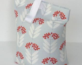 Doorstop Blue Floral Elder Berry Fabric Door Stop Doorstopper Scandi Home Patterned