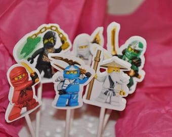Ningajo Cupcake Toppers set of 12