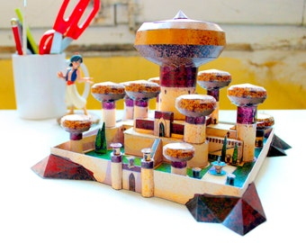 DISNEY PAPERCRAFT - Jasmine's Palace from Aladdin -  Cut & Assemble Paper Model Kit