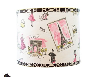 Wonderful Custom Lamp Shades   MADE TO ORDER   Drum Lamp Shades For Paris Decor,  French