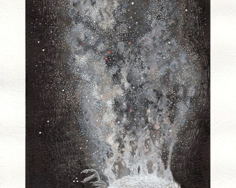 "Limited Edition Prints of my Illustration ""Cosmic Reincarnation"" for Amazing and Original Gift"
