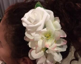 Bridal flower summer tropical carmen miranda retro hair clip