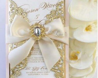 Blush and Gold Invitation