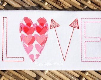 970 Love 4 Machine Embroidery Applique Design