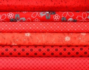 Red fat quarter bundle