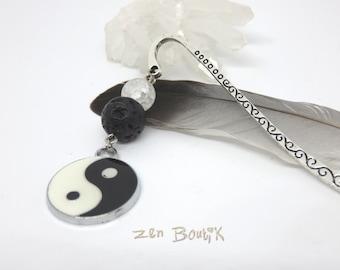 Zen Yin Yang, black white bookmark bookmark - Yin Yang Zen, Tao, Ying Yang, book accessory bookmark, jewel brand Pages unique zen gift