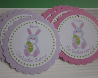 Easter Bunny gift / favor tags / set of 6