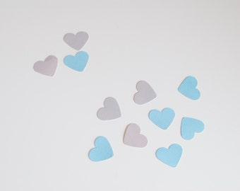50 Heart Confetti White & Grey