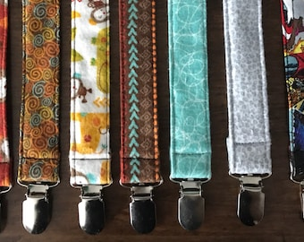 Pacifier Clip- various patterns
