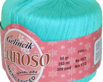 Mercerized cotton yarn GELINCIK LANOSO, summer yarn, lot yarn, palette