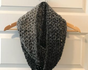 Salt and Pepper Infinity Scarf