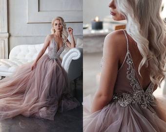 Purple wedding dress etsy kristi wedding dress for megan deposit junglespirit Images
