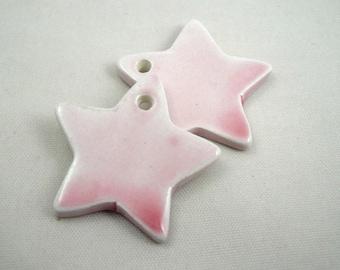 Star in ceramic make-hand : pink