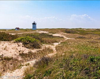 Wood End Lighthouse Cape Cod National Seashore Landscape 12x18 Fine Art Print
