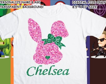 Easter Printable Iron On Transfer - Custom Personalized T-Shirt Decal Design - Digital File - Personalize