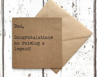 Dad card, fathers day, funny fathers day, fathers day legend, fathers day quote, fathers day card, dad quote card, funny dad card