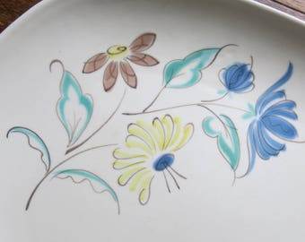Vintage Poole hand painted serving plate