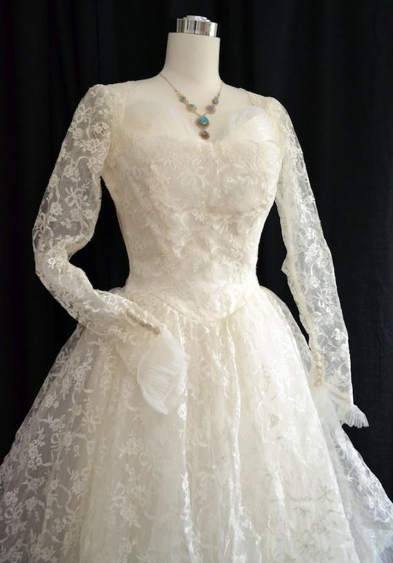 Vintage 50er Jahre Hochzeitskleid / / 1950er Jahren Brautkleid
