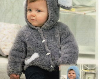 Hooded Sweater and Jacket in Peter Pan Precious Chunky pattern