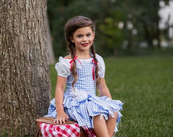 Dorothy Costume, Wizard of Oz Inspired Costume, Dorothy Dress, Blue Gingham Dress, Girls Halloween, Halloween Costume, Pageant Wear, OOC, Oz