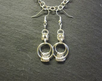 Japanese Chainmail Earrings