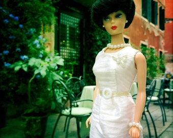 Barbie Dress, Barbie Doll Clothes, Barbie, Vintage Barbie, Barbie Vintage, Barbie Dress, Doll Clothes, Barbie Cream Silk Dress