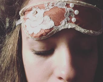 Silk and Lace Sleeping Mask