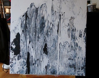 Black & White - Original abstract - Acrylic for painting