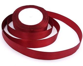 22 m 20mm purple satin ribbon