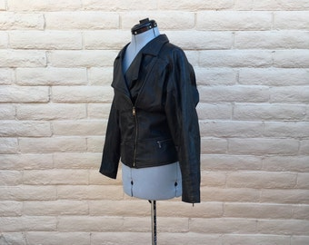 Vintage Leather Motorcycle Biker Rocker Jacket Pioneer Wear Sz 14