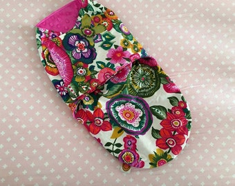 right prink baby snuggler flower print baby wrap blanket newborn