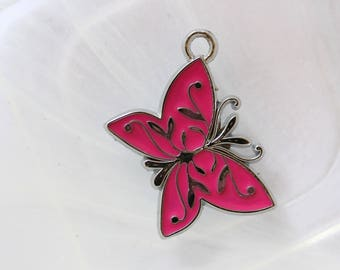 Butterfly metal charm