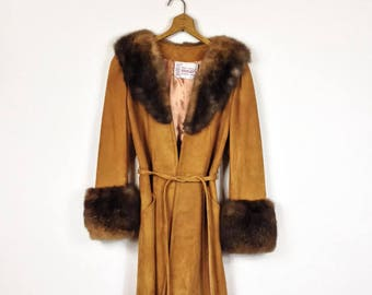 Fur and Suede Leather Penny Lane Princess Coat