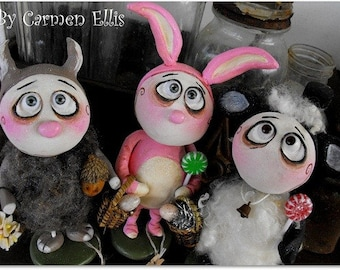 Made to order Grimmy sheep bunny squirrel you choose