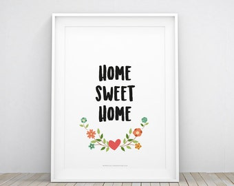 HOME SWEET HOME printable wall art | nursery WallArt | decoration | instant download | home decor