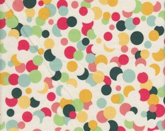 Riley Blake Fancy & Fabulous Confetti in Cream - Half Yard