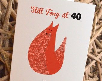 Personalised Fox New Baby/ Birthday/ Congratulations/ Good Luck/ I Love You Card
