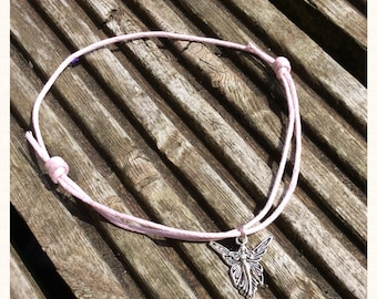 Pink Cord Fairy Charm Anklet