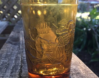 Jack and Jill Amber Glass