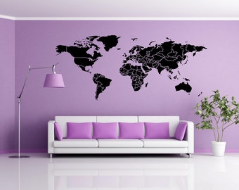 World map decal etsy gumiabroncs Choice Image