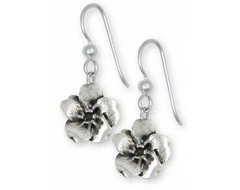 Forget Me Not Earrings Jewelry Sterling Silver Handmade Flower Earrings FMN3-FW