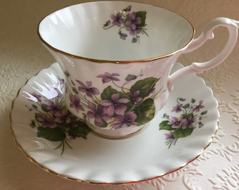 1970's Royal Albert Teacup with Purple Violets