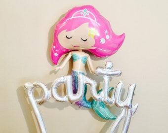 MERMAID Balloon, Mermaid Party, Under the Sea Theme, Lets Be Mermaids, Mermaid Decorations, Mermaid, Mermaid Party Decor, Mermaid Birthday