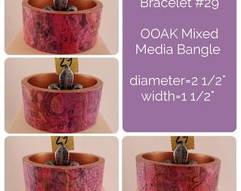 OOAK Art Bracelet #29 - Mixed Media Bangle