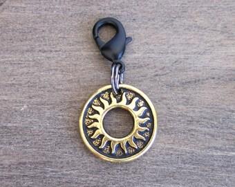 Sun Charm - Collar Charm - Dog Collar Charm - Cat Collar Charm - Bridle Charm