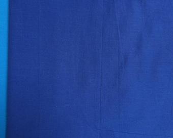 Fabric by the meter, light cotton plain blue ultramarine