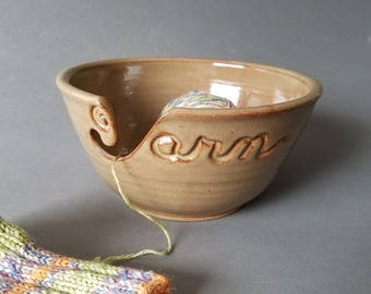 Yarn Bowl in Honeyed Ginger (As Featured in Vogue Knitting) Large Size READY TO SHIP