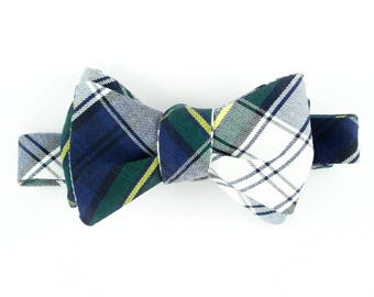 Navy Plaid Bowtie for Human